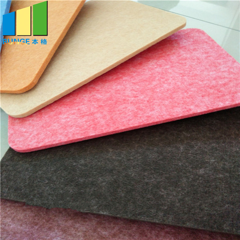 Colorful Decorative Sponge Acoustic Panel Polyester Fiber Board for Music Hall