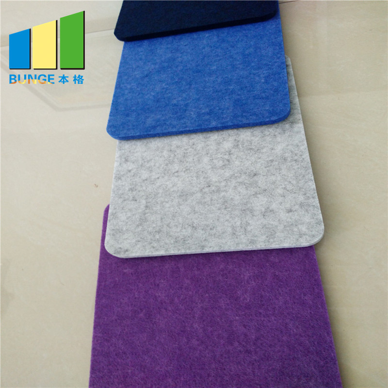 Eco Friendly 100% Polyester Fiber Fireproof Acoustic Panel