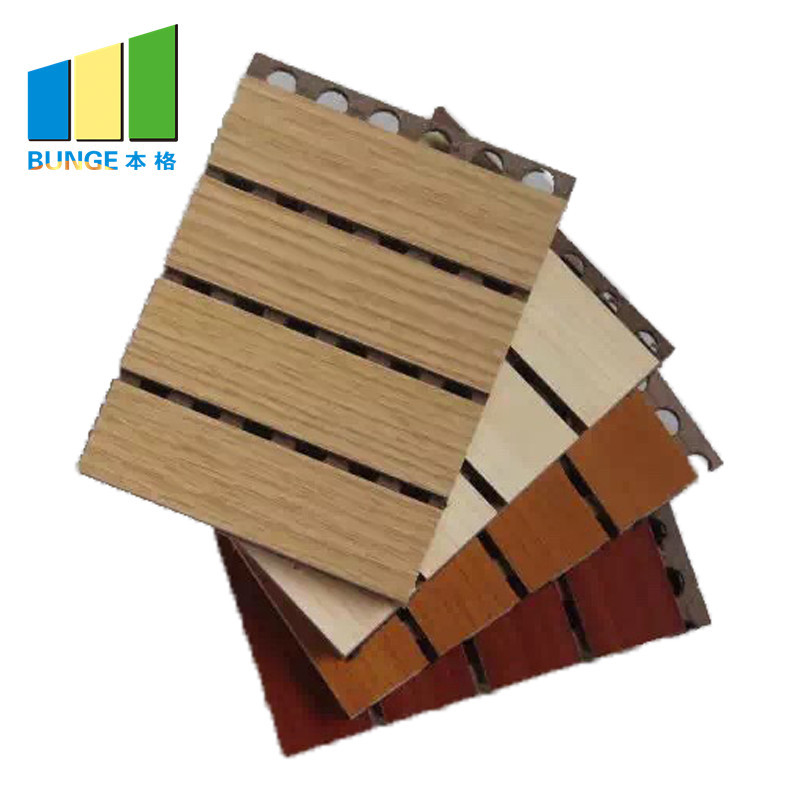 MDF Sound Absorption Board Composite Grooved Wooden Acoustic Panel