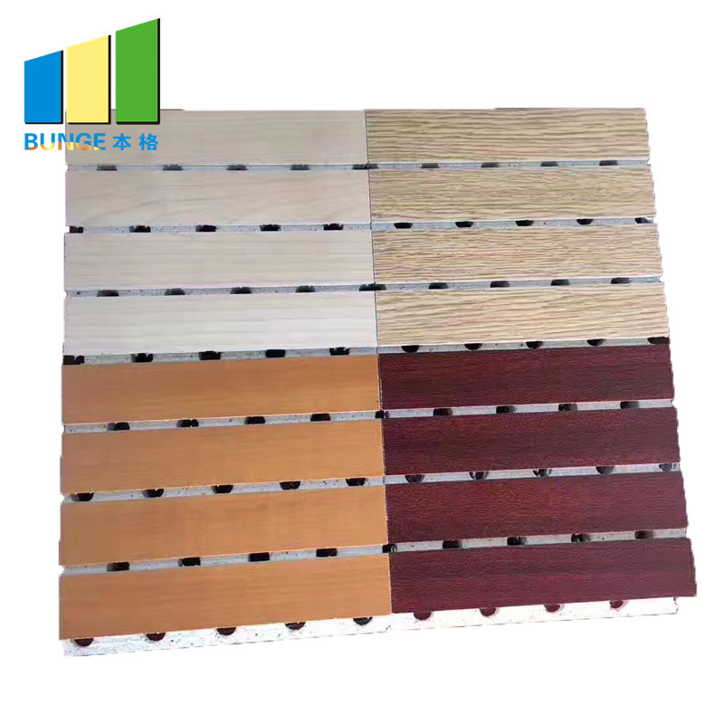 Soundproofing Material Interior Wooden Timber Grooved Acoustic Panel