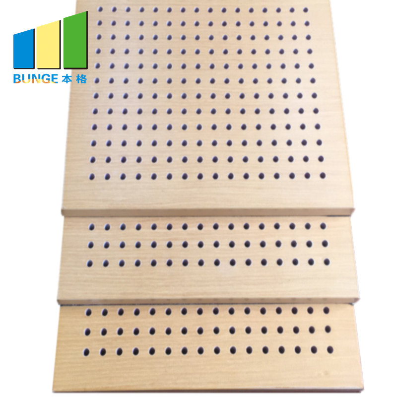 Interior Wall Building Material Wooden Perforated Acoustic Panel
