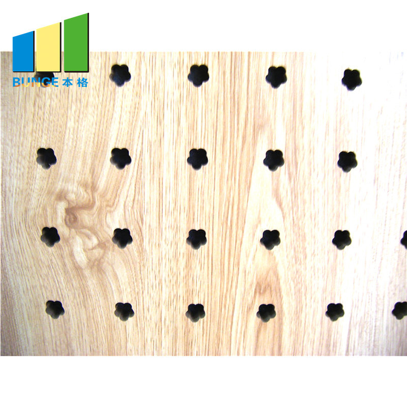 Fireproof Decorative Material Perforated Mdf Acoustic Panel Price