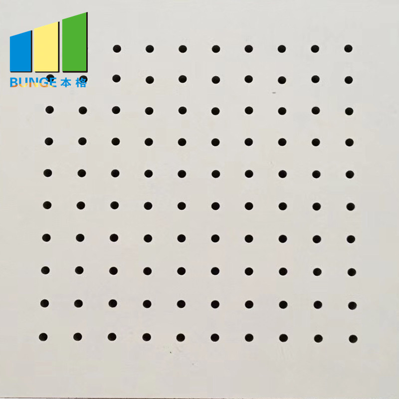Sound Absorption Perforated Wooden Acoustic Panel for Studio Room