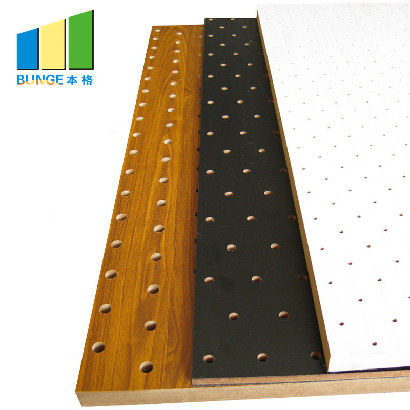 Composited Perforated Decorative Acoustic Wall Panel for Anditordium