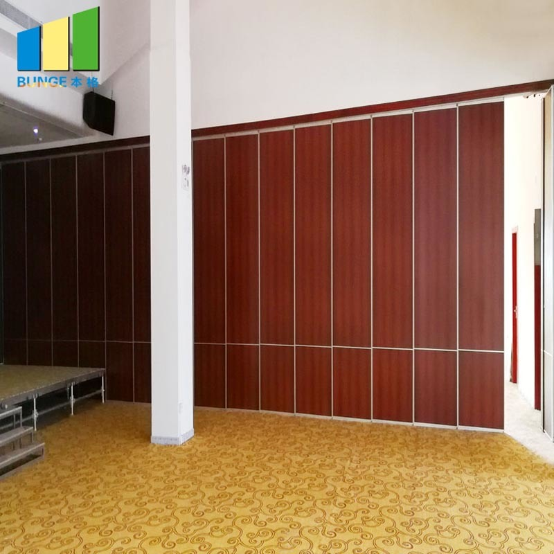 Soundproof Folding Sliding Melamine Surface Acoustic Operable Partition Walls