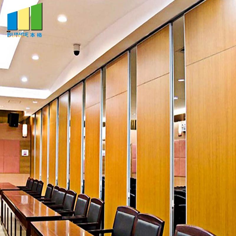 Aluminum Frame Decorative Modern Folding Sliding Office Partition Walls