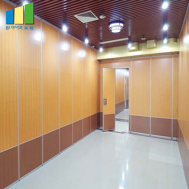 Ballroom Soundproof Movable Walls Wooden Gym Partition Walls