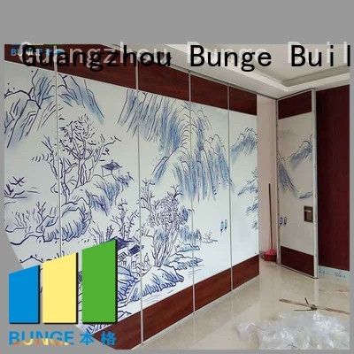 proof retractable movable melamine Bunge Brand sliding room dividers supplier