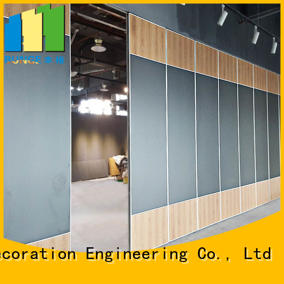 sliding partition walls leather sliding room dividers Bunge Brand