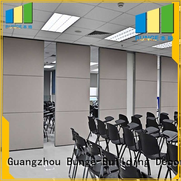 partitions 85 church Bunge Brand sliding partition walls factory