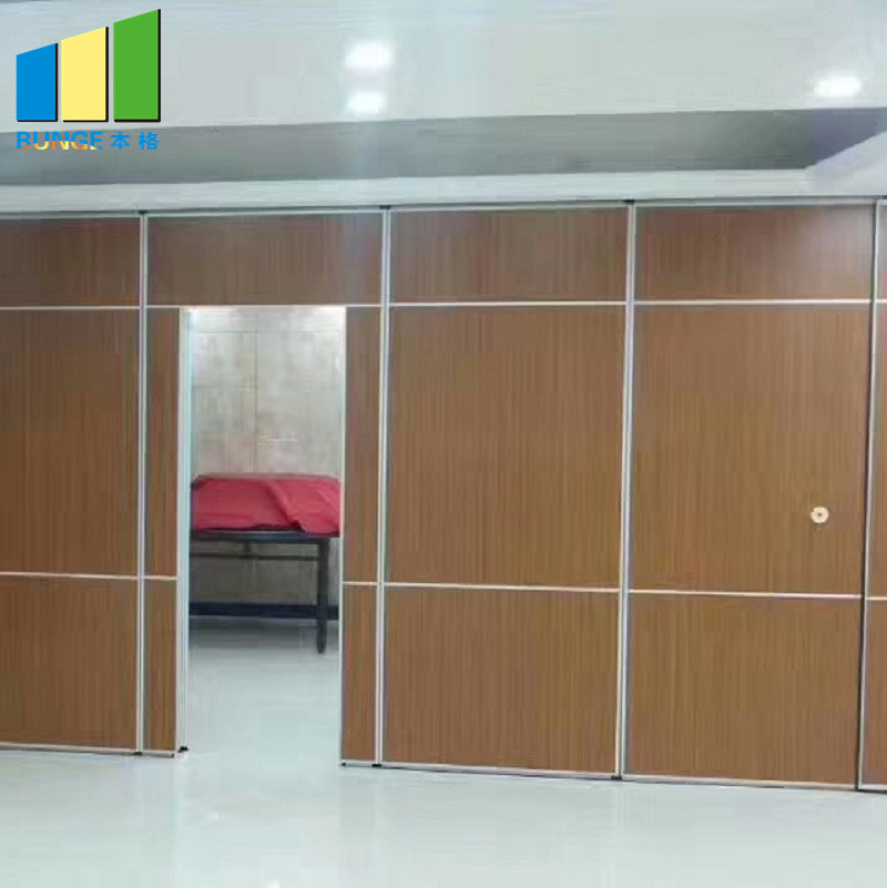 Folding Door Sliding Aluminium Track Acoustic Room Divider Hotel Movable Partition Wall