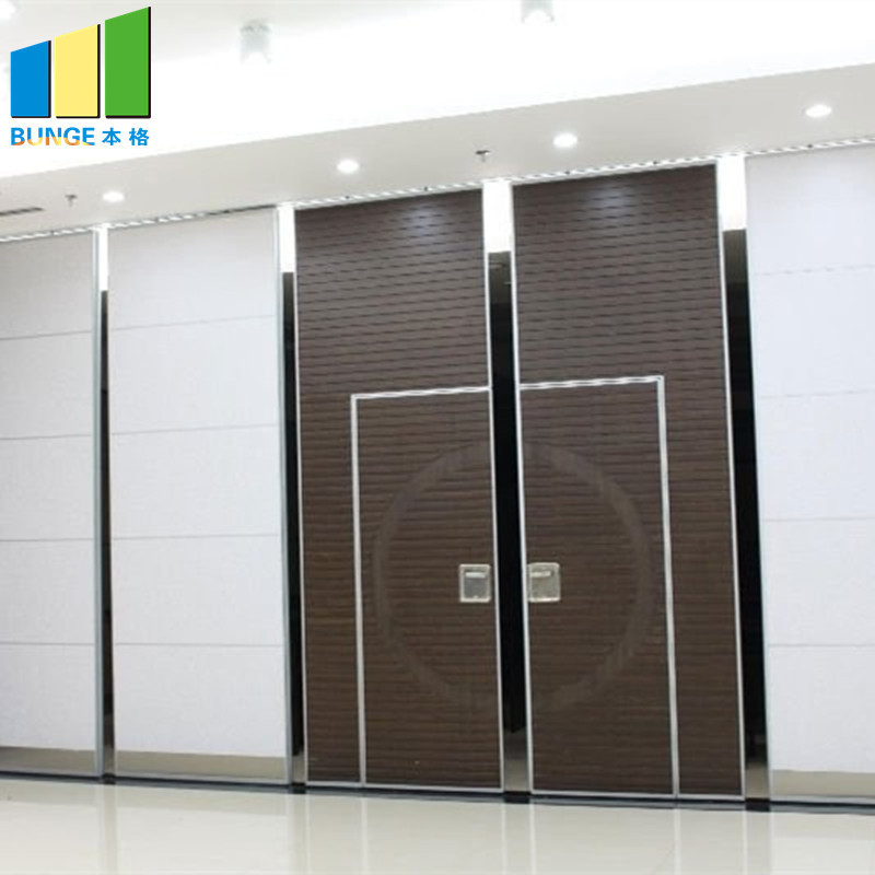 Folding Door Sliding Aluminium Track Acoustic Room Divider Hotel Movable Partition Wall