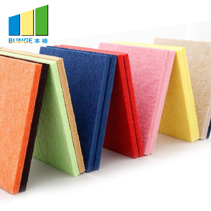 Sound Absorbing Materials Polyester Fiber Acoustic Wall Panels
