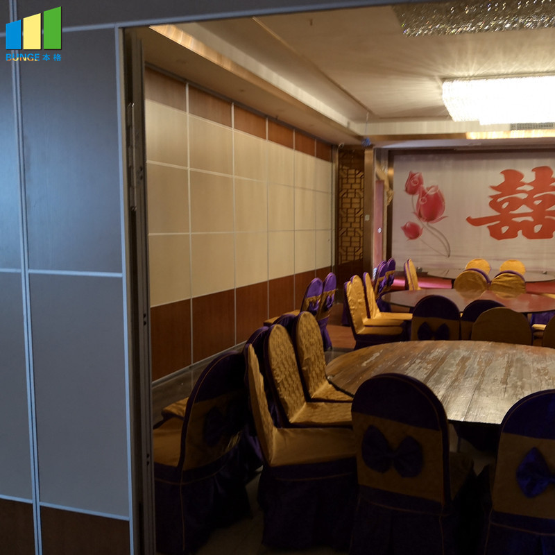 Easy Installing Acoustic Flexible Floor to Ceiling System Sliding Partition Wall for Classroom