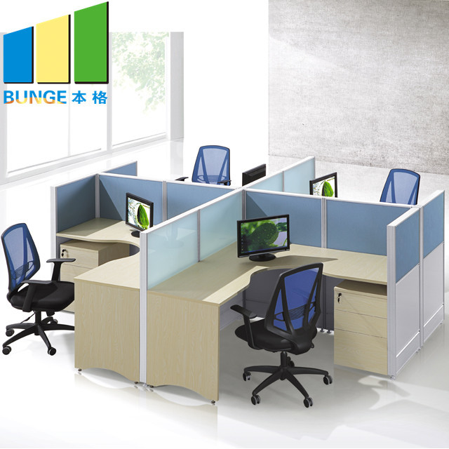 Saving Space Office Furniture Contemporary Office Cubicles 2-6 Seat Office Partition Walls