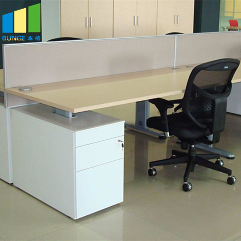 Cusomized Green Material Modular Furniture Office Workstation for 4 Person