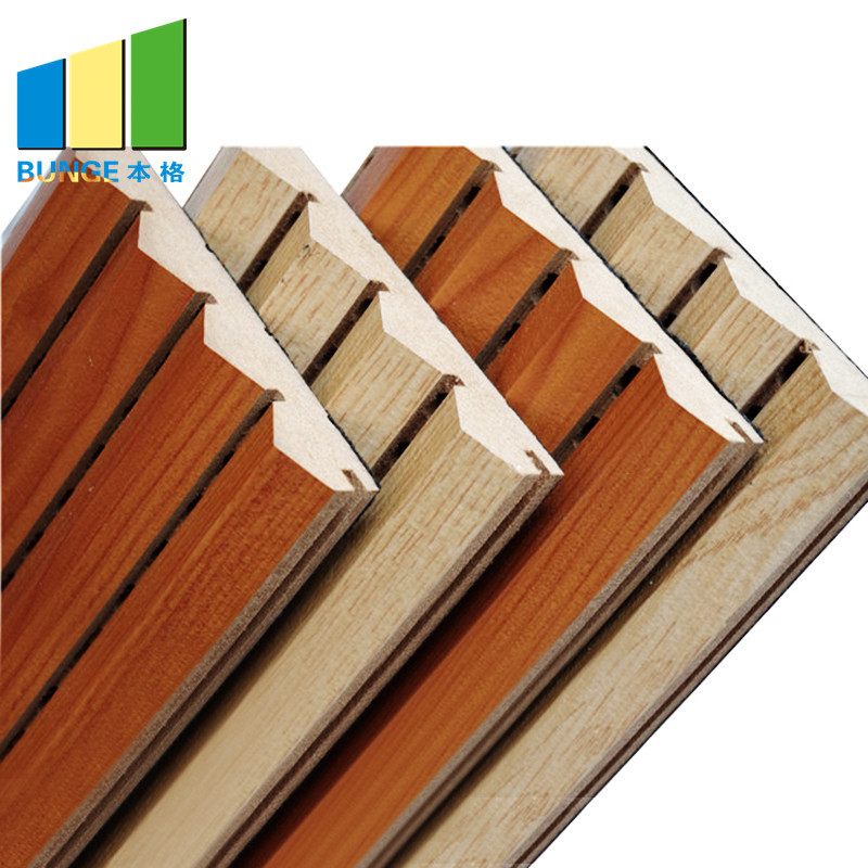 Acoustic Material Sound Absorption Board Music Hall Wooden Grooved Acoustic Panels