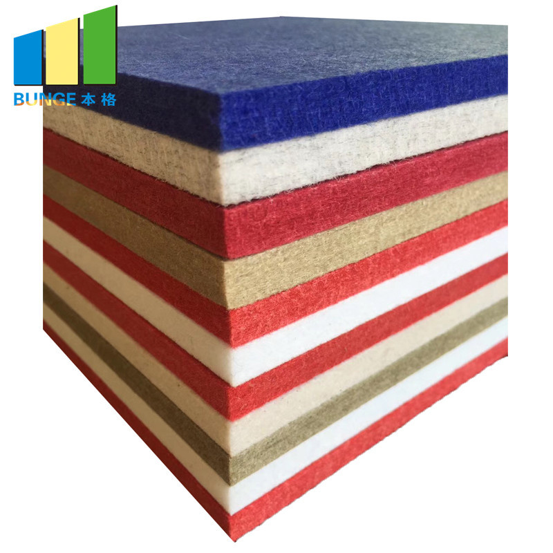 Decorative Fabric Sound Absorption Board Cinema Polyester Fiber Acoustic Panel
