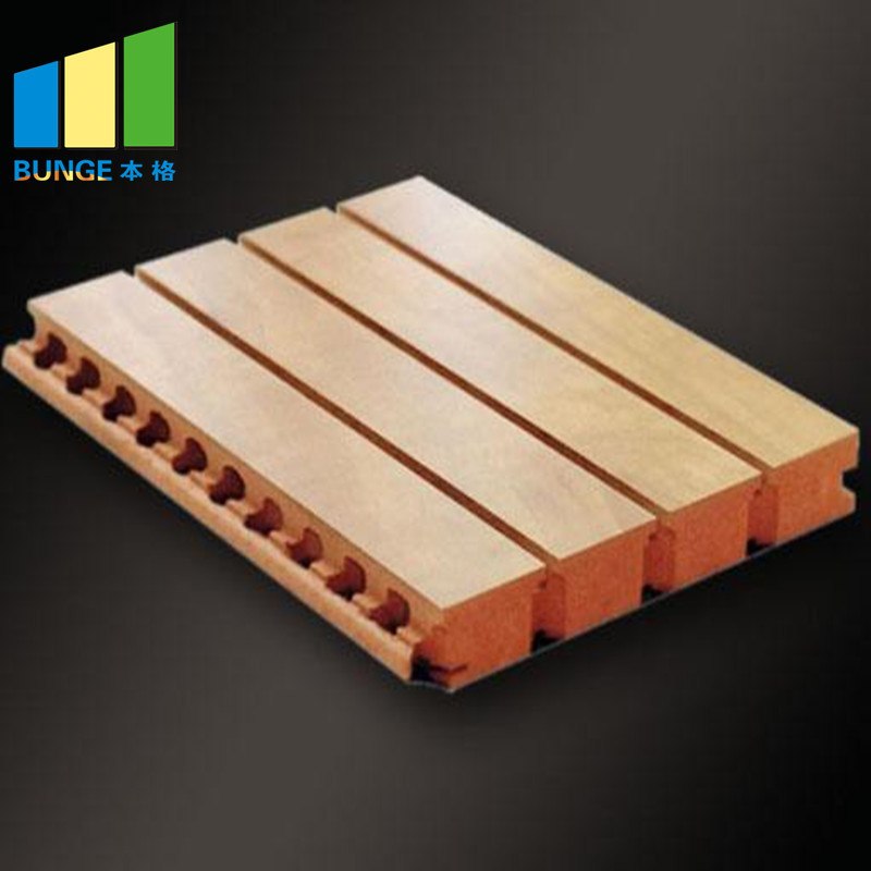 Melamine Finish Grooved MDF Sound Proof Acoustic Wooden Wall Panels