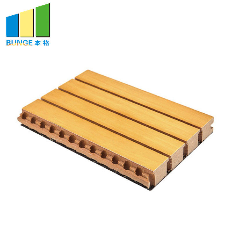 Sound Diffuser MDF Board Wooden Grooved Acoustic Wall Panels