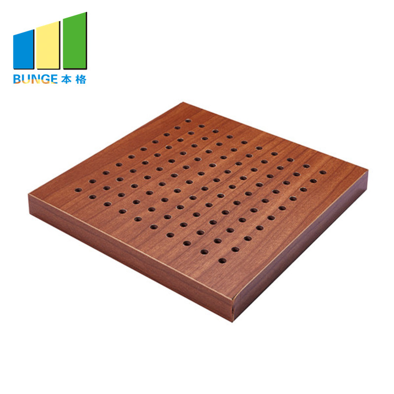 Bunge-Manufacturer Of Sound Insulation Panels Fireproof Perforated Wooden Acoustic