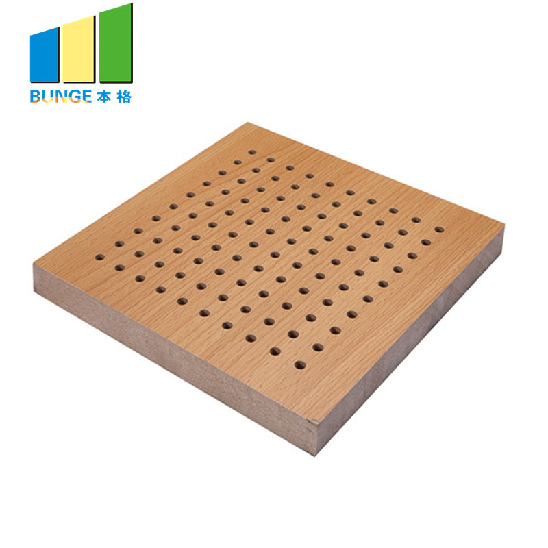 Fireproof Perforated Wooden Acoustic MDF Panels For Walls And Ceilings