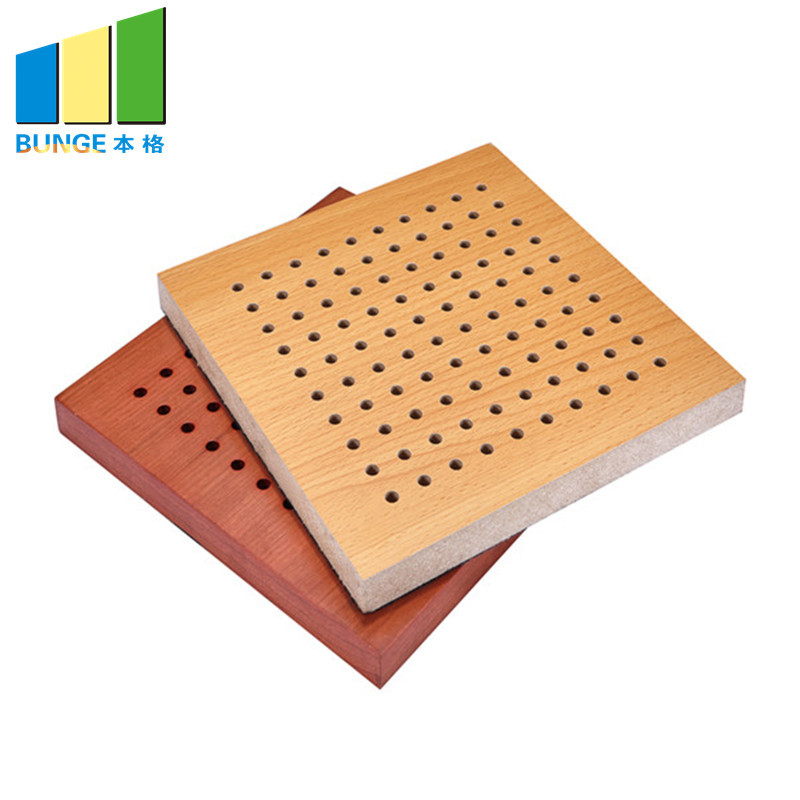 Sound Diffuser Decorative Ceiling Board Perforated Wooden Acoustic Wall Panels
