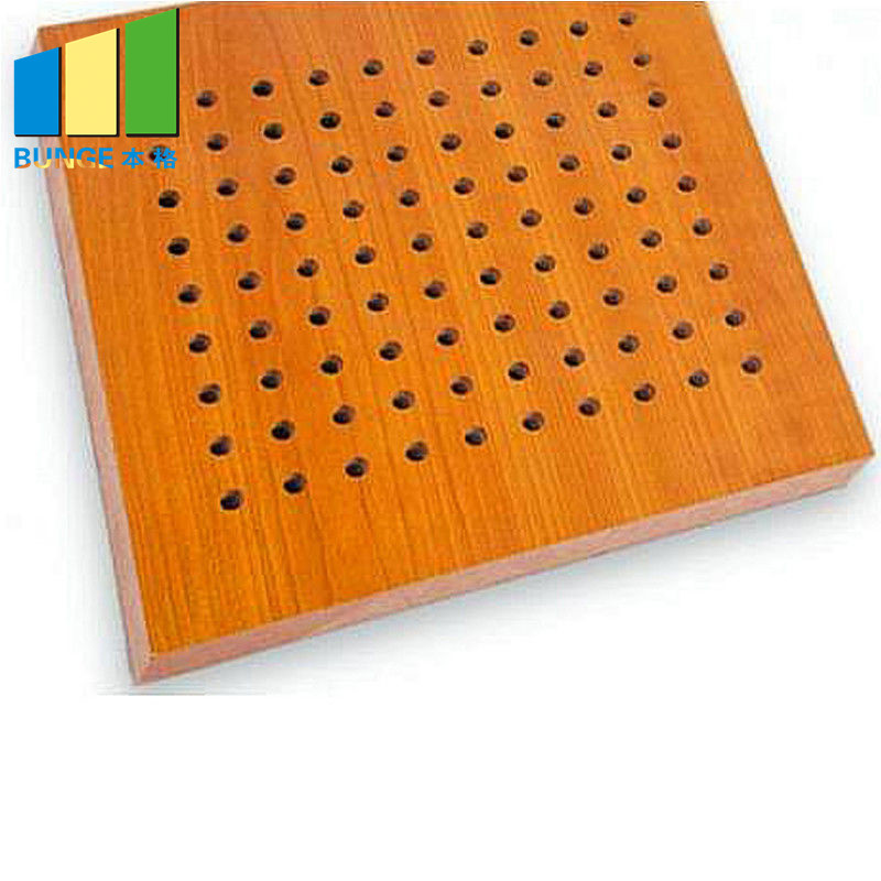 12 mm MDF Acoustic Ceiling and Wall Boards Soundproof Perforated Wall Panels