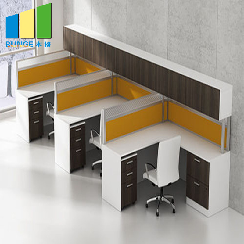 Contemporary Modular Secretary Employee Office Desks Computer Tables Workstations Furniture