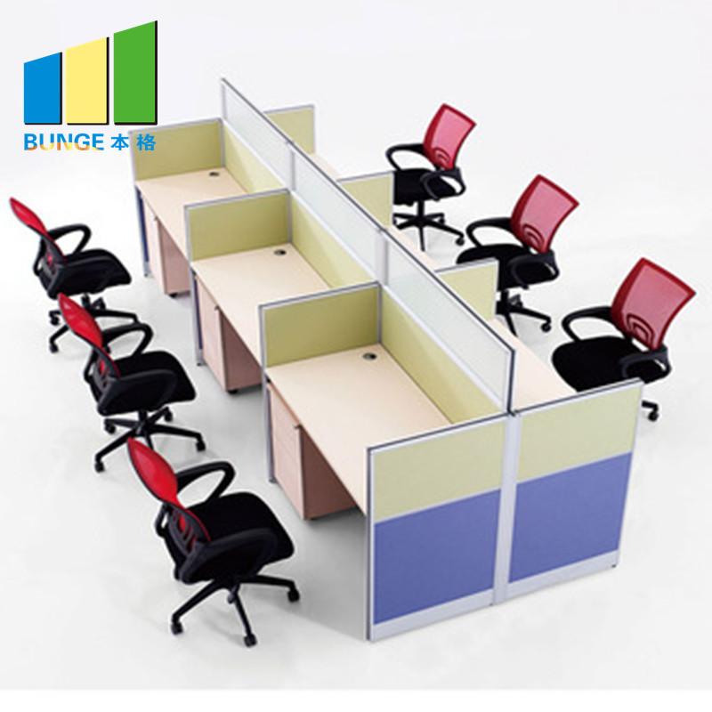 Contemporary Modular Secretary Employee Office Desks Computer Tables Workstations Furniture