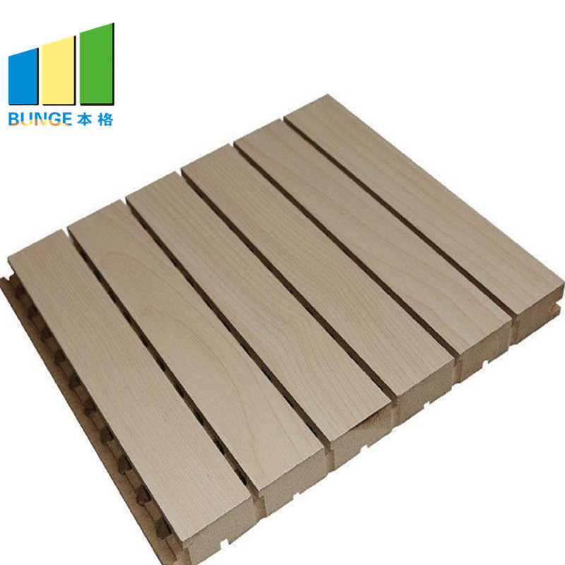 Sound Proof Materials Absorbing Wall Boards Grooved Acoustic Wall Panels Manufacturer