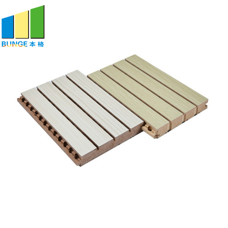 Bunge-Wall Sound Panels Wooden Acoustic Wall Boards Material For Auditorium