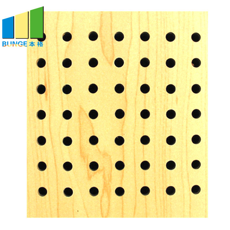 Fireproof Perforated Wooden Acoustic Panels for Ceilings and Walls