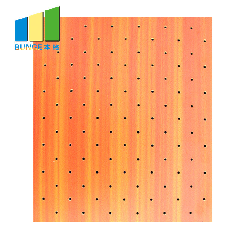 Wooden MDF Veneer Perforated Acoustic Panels for Auditorium Sound Absorption