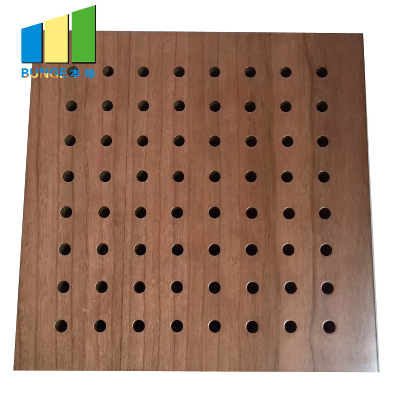 Fiberglass Ceiling Tiles Perforated Acoustic Wall Panels for Auditorium and Cinema