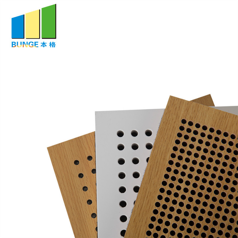 Auditorium Acoustic Wall Boards Perforated Wooden Acoustic Panels for Studio