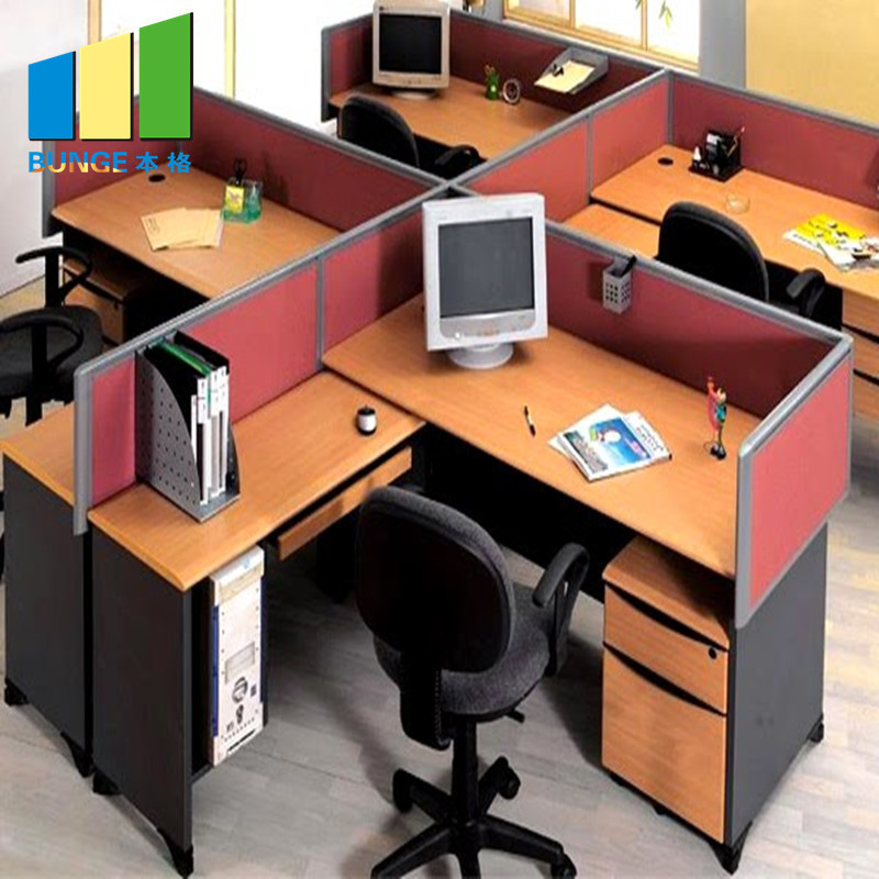 Aluminum Partitions Melamine Modern Office Desk Workstations