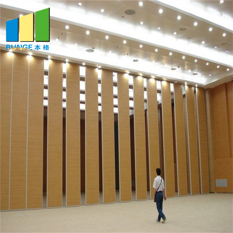 Aluminum Frame Office Wooden Operable Partition Walls Materials